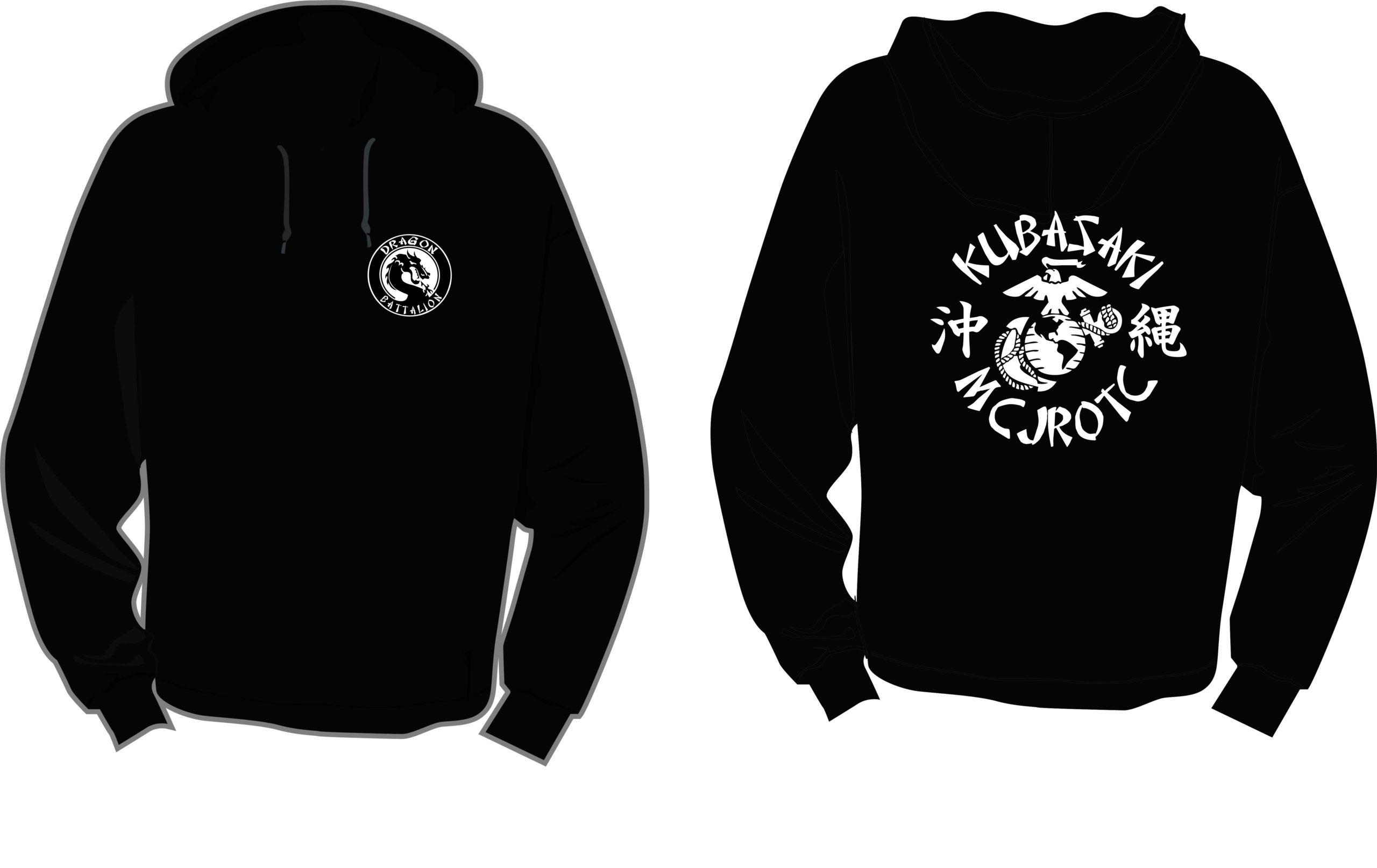 Black Hooded Pullover