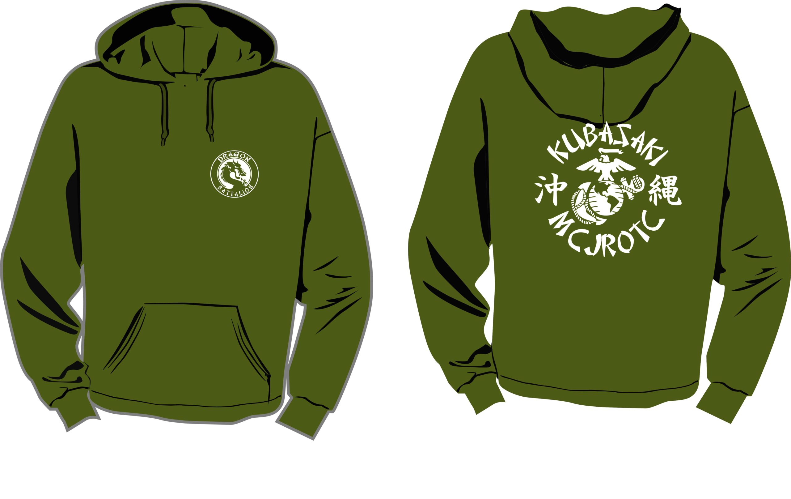 Od Green Hooded Pullover