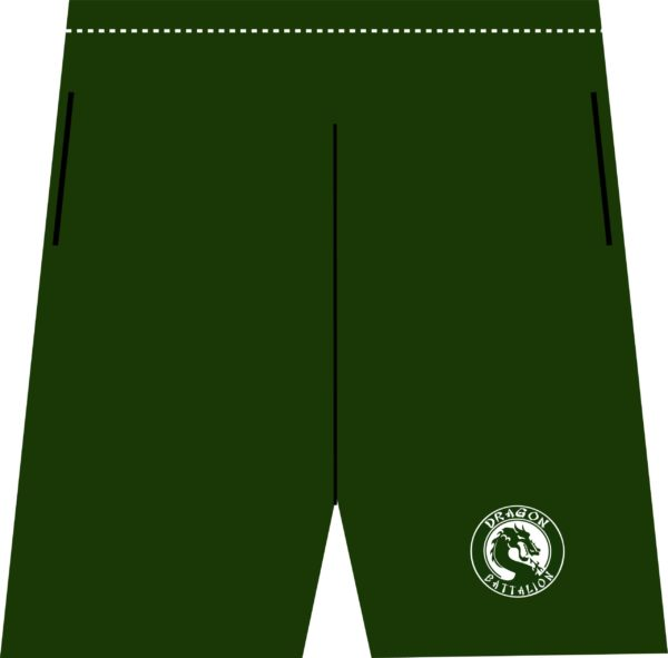 Forest Green Athletic Running Shorts Female