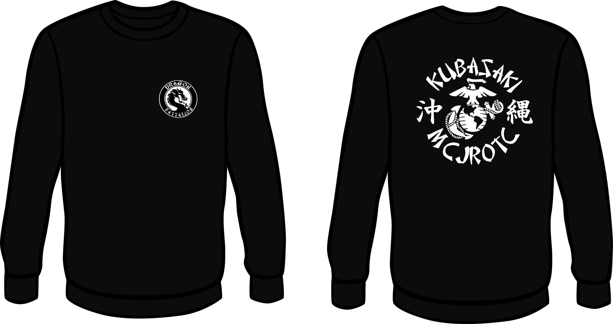 Black Crew Neck Sweat Shirt
